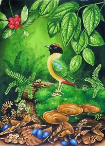 CHERYL GARRETT- SUPERB WATERCOLOUR 'NOISY PITTA BIRD'