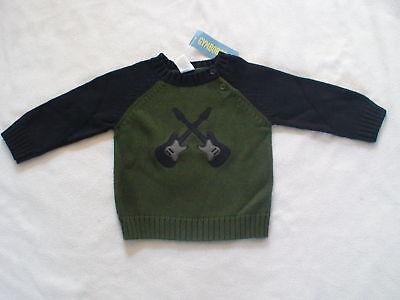 Gymboree Rock Academy Guitars Navy Sweater Winter