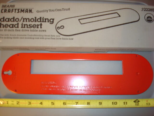 Sears Dado Molding Insert 14, Craftsman 9-22285,
