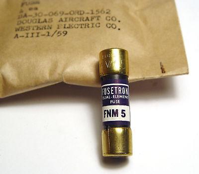 4x BUSS FNM 5 Dual Element Fuse / Sicherung, Fusetron