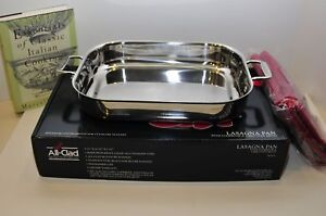 All Clad Stainless Steel Lasagna Pan, Mitts & Cookbook