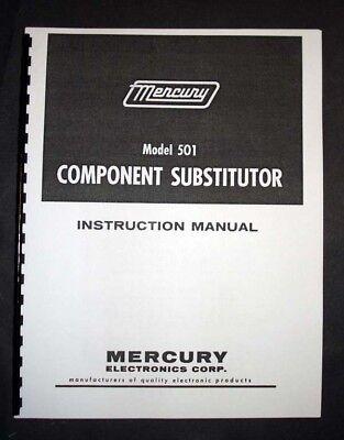 Mercury Model 501 Component Substitutor Manual