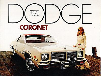 1975 Dodge Coronet 12-page Original Car Dealer Sales Brochure