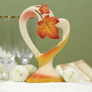 Maple Leave Fall Wedding Cake Toppers Autumn Wedding Cake Topper Top