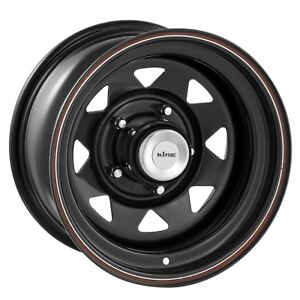 NEW-4X4-WHEELS-17-X8-BLACK-STEEL-RIMS-545-A-SET-OF-4