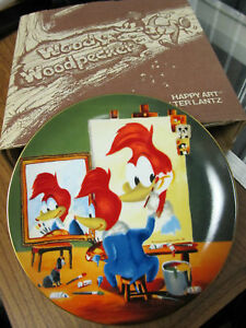 Vintage-1981-Limited-Edition-Walter-Lantz-WOODY-THE-WOODPECKER-Decorative-Plate