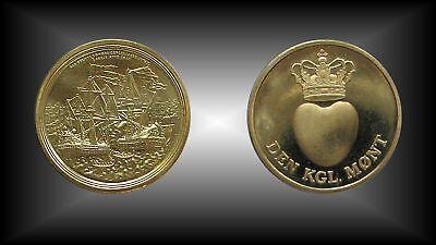 Medaille Dänemark Schifffahrt Schiffsflotte Armada