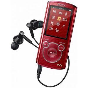 Sony-Walkman-4GB-MP3-Player-NWZ-E463-Red-Music-Digital-Media-2-034-Display
