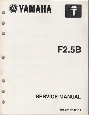 2003 Yamaha Outboard Motor F2.5b Service Manual