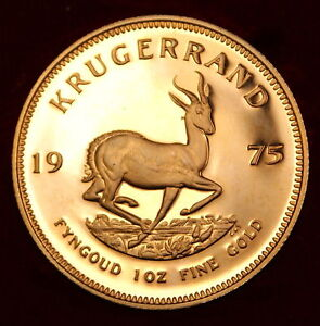 1975 South Africa Gold Krugerrand, 1 Oz. Proof Coin