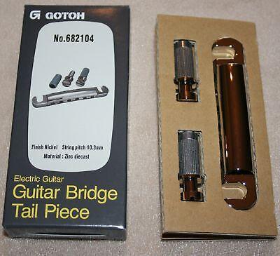 Gotoh Stoptail Saitenhalter Tail piece Bridge Brücke Nickel