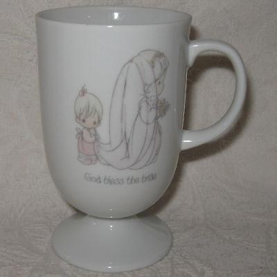 Precious Moments Mug GOD BLESS THE BRIDE Wedding