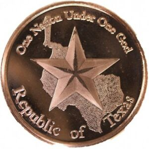 TEXAS-AOCS-CURRENCY-1-OZ-999-FINE-COPPER-BULLION-COIN