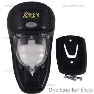 4x-Raven-Spirit-Dispenser-30ml-Black-Wall-Mount