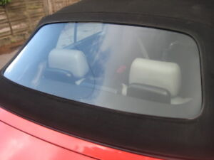 BMW E36 convertible rear window screen replacement.