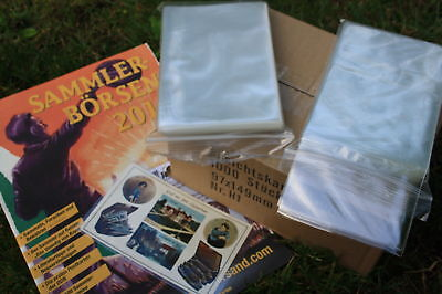 1000 Ansichtskartenhüllen Postkarten Hüllen alte AK NEU 96x148 mm GLASKLAR H1