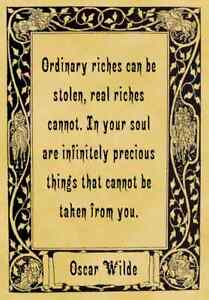 A4-Parchment-Poster-Quotation-Oscar-Wilde-Ordinary-Rich