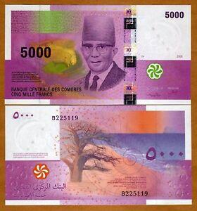 Comoros-Comores-5000-5-000-Francs-2006-P-18-UNC