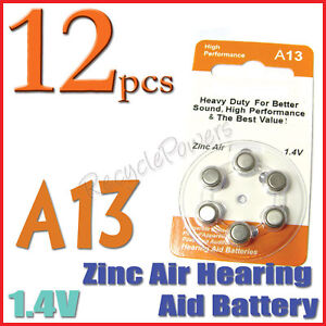 12-A13-13-PR48-7000ZD-1-4V-Zinc-Air-Hearing-Aid-Battery