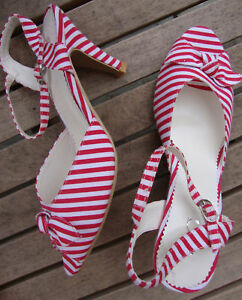 RED-WHITE-STRIPE-50s-STYLE-ANKLE-STRAP-PEEP-TOE-SANDALS
