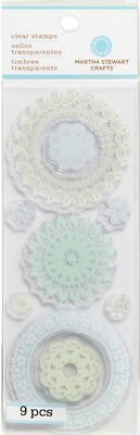 Lace Doilies Clear Unmounted Rubber Stamp Set Martha Stewart Crafts