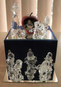 SWAROVSKI SILVER CRYSTAL 2009 SNOW WHITE & 7 DWARFS ALL MINT IN BOXES, RETIRED