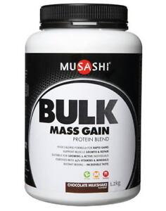 Musashi Bulk Mass Gain Protein Powder 1 08kg Chocolate Muscle Growth Repair eBay