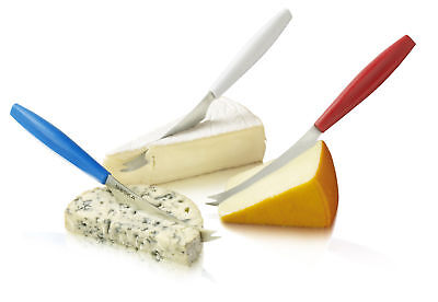 Boska Holland Couleurs Color Coded 3pc Cheese Knife Set