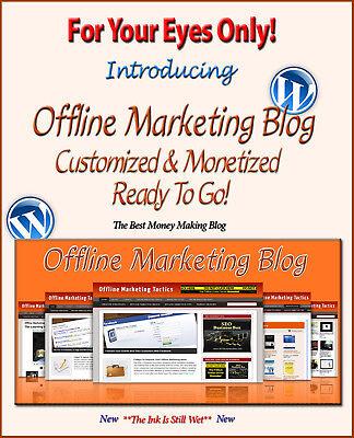 Offline Marketing Blog Self Updating Website   Clickbank Amazon Adsense Pages