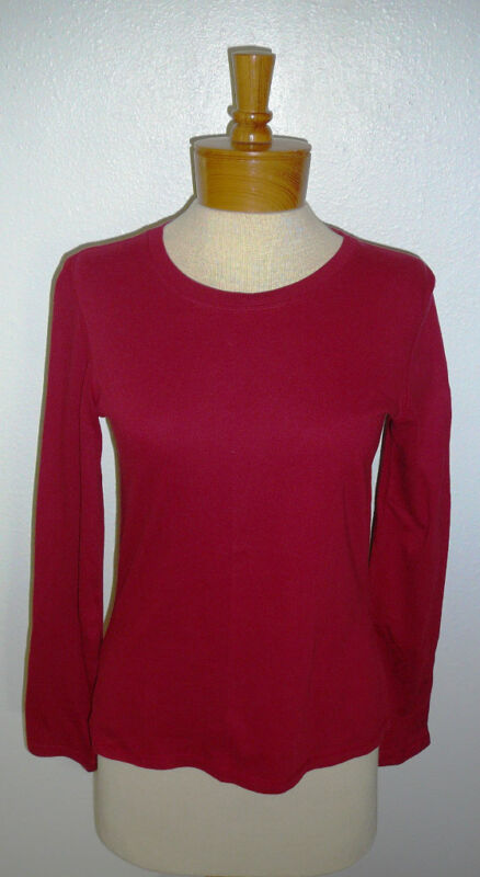 ARIZONA KNIT TOP~Long Sleeve~Burgundy~Girls Size Large~FREE SHIP