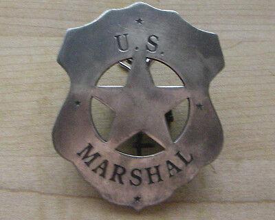 U.s. Marshal Badge B W -4 Sheriff Western Police