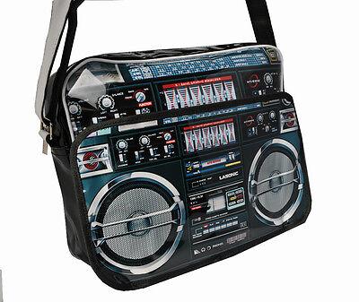 Ghetto Blaster Radio Boom Box Postman Laptop Carry Bag (PB102)