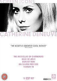 CATHERINE DENEUVE COLLECTION - SCREEN ICONS - DVD - REGION 2 UK