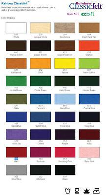 72 Wide Rainbow Classic Felt Fabric By The Yard