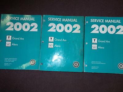 2002 pontiac grand am oldsmobile alero service shop repair manual rh ebay com 2002 pontiac grand am owner's manual 2002 pontiac grand am owner's manual