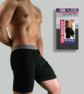 6 Pairs Mens USA Master Cotton Boxer Briefs  SIZES Small - X-Large