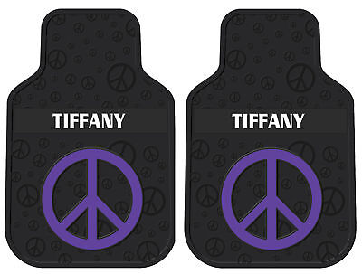 2pc New Purple Peace Sign Personalized Car Floor Mats Ebay