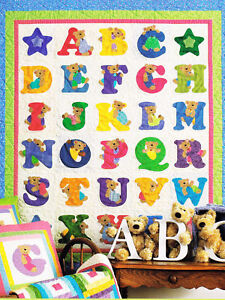 Alphabears  - fun applique book for kids quilts