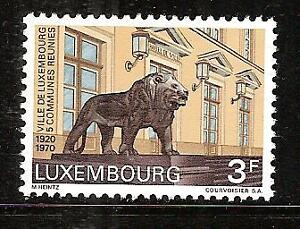 LUXEMBOURG-493-MNH-LION-CITY-HALL