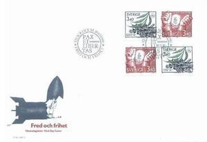 Sweden 1986 Mi BL 1407-08 FDC Year of peace - <span itemprop=availableAtOrFrom> Dabrowa, Polska</span> - Sweden 1986 Mi BL 1407-08 FDC Year of peace -  Dabrowa, Polska
