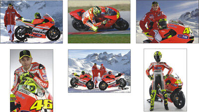 Valentino Rossi Ducati MotoGP New Bike POSTCARD Set