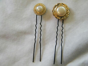 Beautiful-Hand-Crafted-Hair-Pin-Gold-White-Cabachon-2
