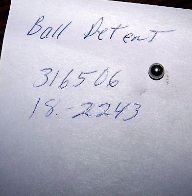Johnson EvinrudeOutboard Motor Lower unit 2 steel Balls Detent 316506 18-2243