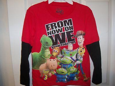 Toy Story Buzz Lightyear Red Black Long Sleeve Shirt Boys 7 15