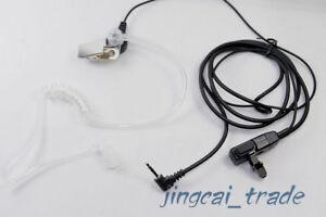 NERO-COVERT-ACUSTICO-Tube-auricolare-per-Motorola-COBRA-RADIO-1-pin-2-5mm-PTT