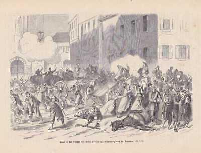 Schlacht von Sedan Bataille de HOLZSTICH von 1871