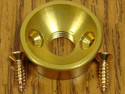 Electrosocket Tele Output Jack Plate 1/4 7/8 Gold For Telecaster