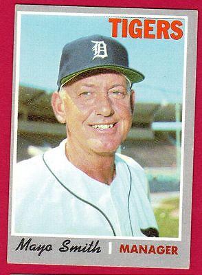 1970 Topps BB #313 Mayo Smith/Tigers EX/EX+ (Bb Mayonnaise)