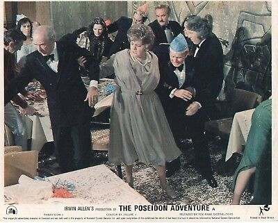 THE POSEIDON ADVENTURE lobby card  print #2 GENE HACKMAN, SHELLY WINTERS