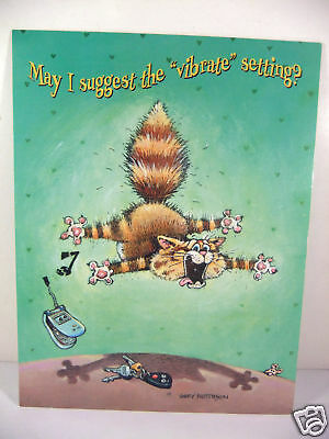 Leanin Tree Humorous Cat Happy Birthday Deluxe Glossy Green Greeting Card New